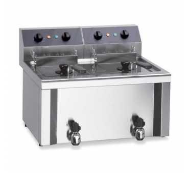 FURNOTEL - Friteuse de table électrique 2x12 litres triphasée