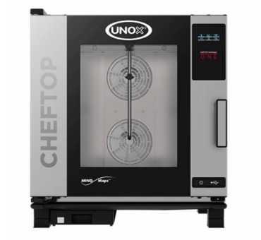 Four mixte professionnel électrique Unox 7 niveaux Gn 1/1 ChefTop Zero XEVC-0711-EZRM