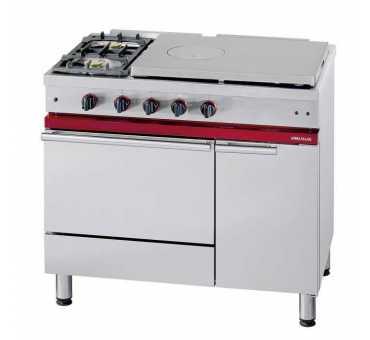 Fourneau avec plaque coup de feu 650x500, 2 feux vifs, 1 four gaz Gastronorme 1/1 - CG 1041 GAGCF