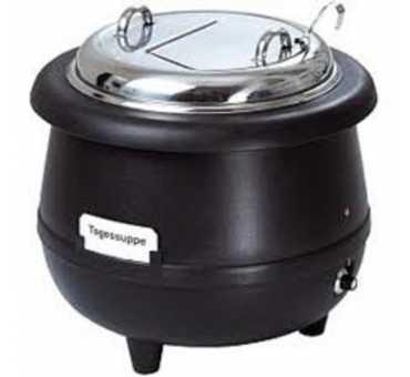 ELECTROBROCHE - Marmite à soupe laqué noir 10 litres - MS 1000 ST