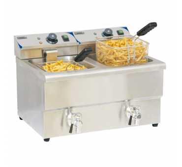 CASSELIN - Friteuse double électrique avec vidange 2 x 8 litres - CFEV82