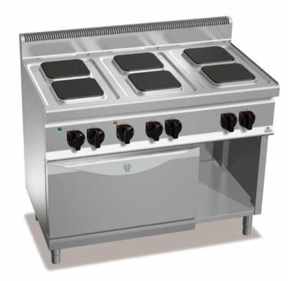 BERTO'S - Plan de cuisson 4 zones a induction