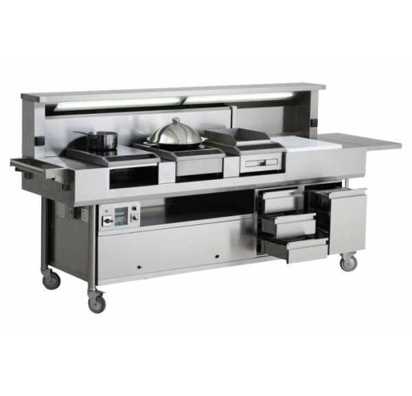 TECNOX - Show cooking 3 postes 3 tiroirs - ALTO-ST3