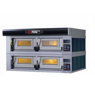 MORETTI FORNI - Four à pizza électrique SERIEP 2 chambres Ø350-450 mm - P120E2-A
