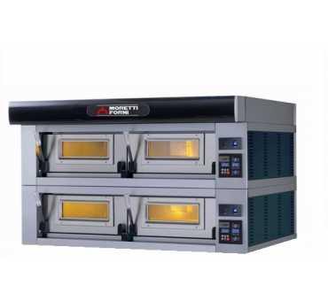 MORETTI FORNI - Four à pizza électrique SERIEP 2 chambres Ø350-450 mm - P120E2-B