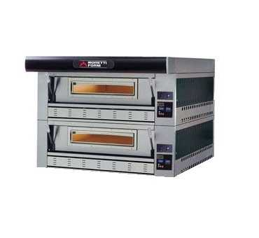 MORETTI FORNI - Four à pizzas gaz SérieP 2 chambres 2x9xØ300 mm - P110GB2