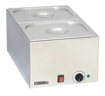 Casselin - Cuve inox capacité GN 1/1 livré avec 2 bacs GN 1/2