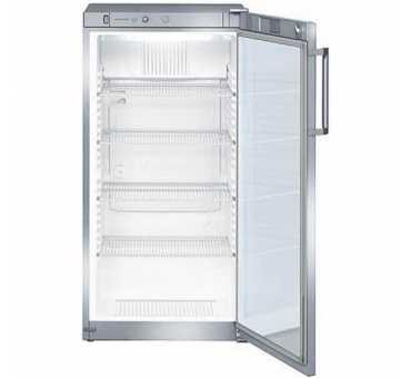 LIEBHERR - Armoire positive ventilée vitrée inox 236 litres - FKVsl2613