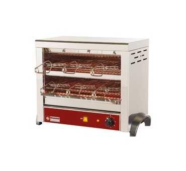 DIAMOND - Toaster Professionnel à Quartz 2 niveaux (livré avec 6 pinces)