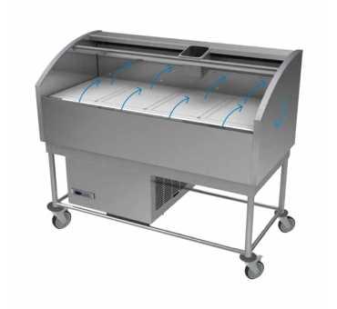 """GAMKO - Table à flux laminaire 4 modules Gn 1/1 """"Gastro-Pro"""" - GP-4N"""