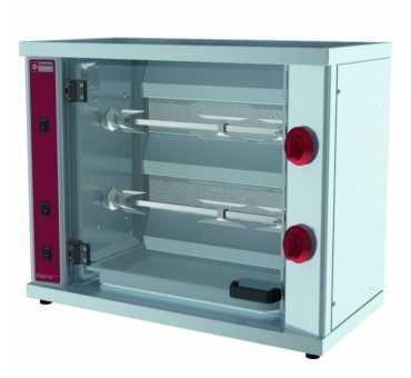 DIAMOND - Rôtissoire gaz compacte pour 6 poulets - RVG/2-SM