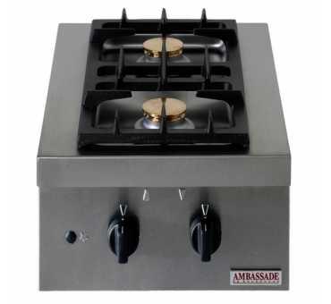 AMBASSADE - Réchaud 2 feux gaz - CRG023P