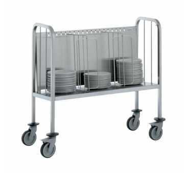 TOURNUS - Chariot portes assiettes réhaussé