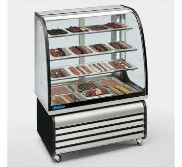 Vitrine à chocolats vitrée 300 L - Froid ventilé +14°C/+16°C TECFRIGO
