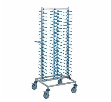 TOURNUS - Chariot portes-assiettes garnies 4 piles - 801262