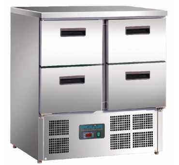 POLAR - Table réfrigérée 4 tiroirs 240L - U638