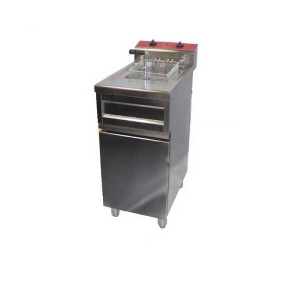 Friteuse Electrique Sur Coffre 12 litres avec Vidange Electrobroche