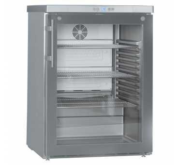 LIEBHERR - Armoire positive ventilée vitrée inox 141 L - FKUV1663