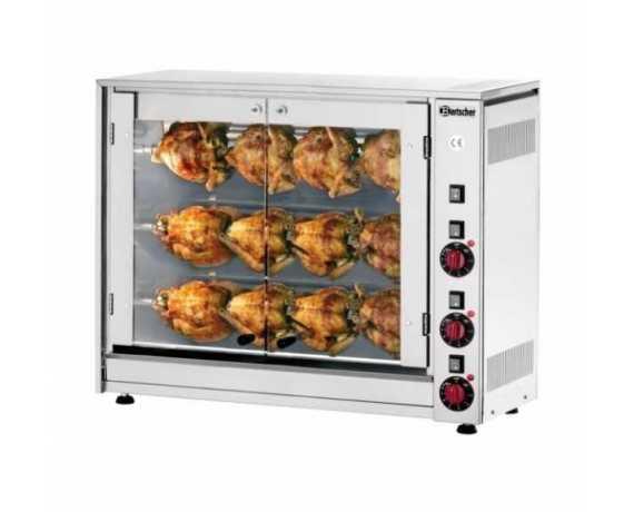 Rôtissoire poulet électrique ou gaz professionnelle